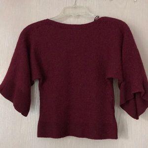 Rachel Zoe maroon cropped sweater.
